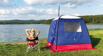 camping tent sauna